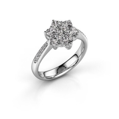Picture of Engagement ring Chantal 2 585 white gold diamond 0.758 crt