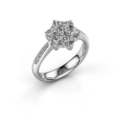 Verlovingsring Chantal 2 585 witgoud diamant 0.758 crt