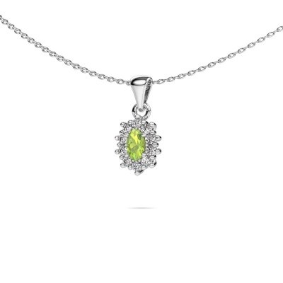 Picture of Necklace Leesa 585 white gold peridot 6x4 mm