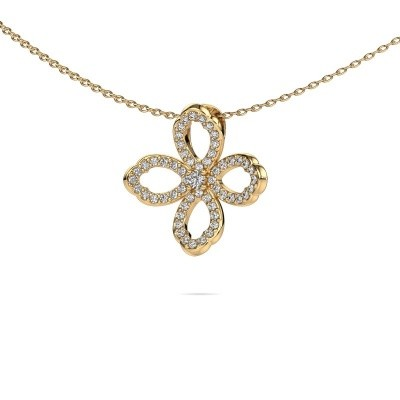 Picture of Necklace Chelsea 585 gold zirconia 2 mm