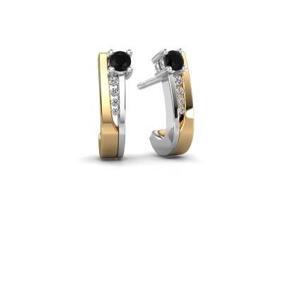 Bild von Ohrringe Jewell 585 Gold Schwarz Diamant 0.25 crt