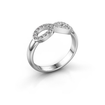Ring Infinity 2 585 witgoud diamant 0.188 crt