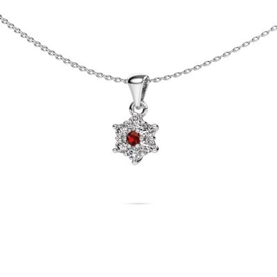 Picture of Necklace Chantal 585 white gold garnet 2.4 mm