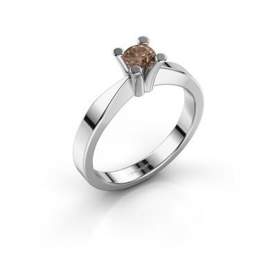 Foto van Verlovingsring Ichelle 1 925 zilver bruine diamant 0.30 crt