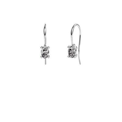 Picture of Drop earrings Cleo 950 platinum zirconia 6x4 mm