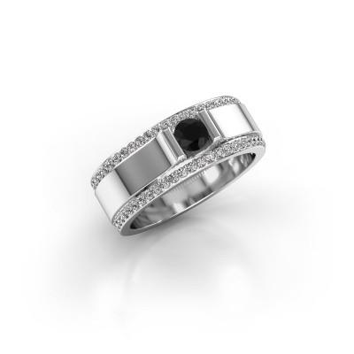 Foto van Herenring Danillo 925 zilver zwarte diamant 0.765 crt