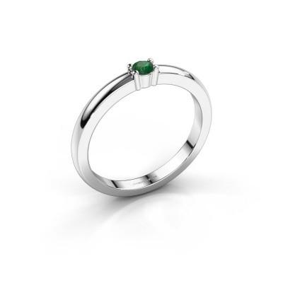 Foto van Promise ring Yasmin 1 585 witgoud smaragd 2.7 mm