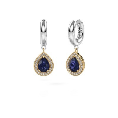 Picture of Drop earrings Barbar 1 585 gold sapphire 8x6 mm