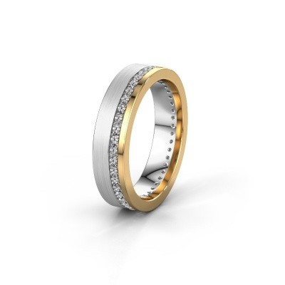 Trouwring WH0303L15BPM 585 witgoud diamant 0.44 crt ±5x2 mm
