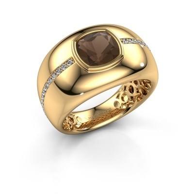Foto van Ring Sydney 375 goud rookkwarts 7.5 mm