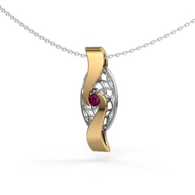 Picture of Pendant Darleen 585 gold rhodolite 3 mm