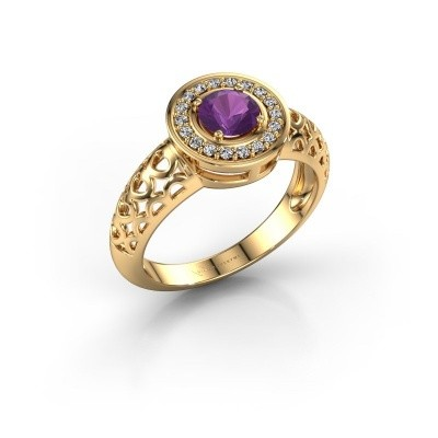 Foto van Ring Katalina 585 goud amethist 5 mm