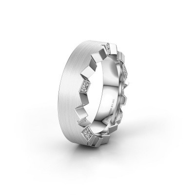Trouwring WH2058L17EM 585 witgoud diamant ±7x2.6 mm
