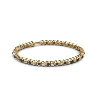 Foto van Tennisarmband Asley 375 goud zwarte diamant 4.84 crt