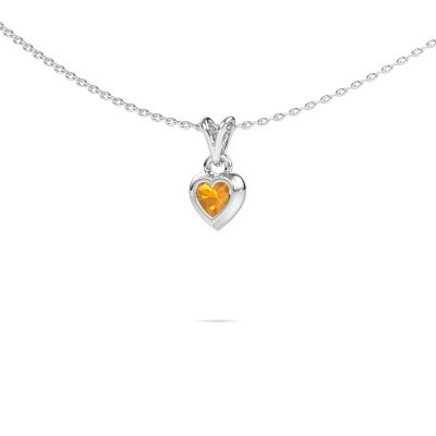 Picture of Pendant Charlotte Heart 375 white gold citrin 4 mm