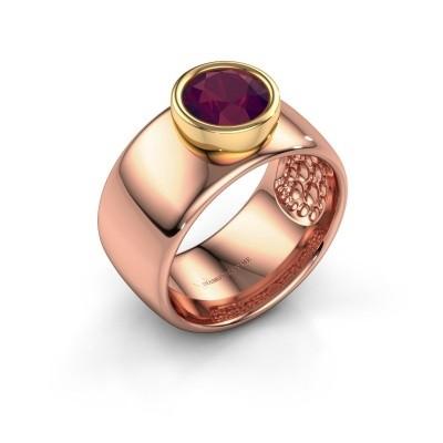 Foto van Ring Klarinda 585 rosé goud rhodoliet 7 mm