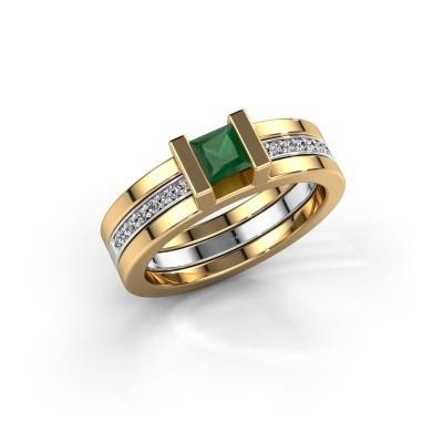 Top Gouden smaragd ringen | Zelf ontwerpen | DiamondsByMe &KX_23