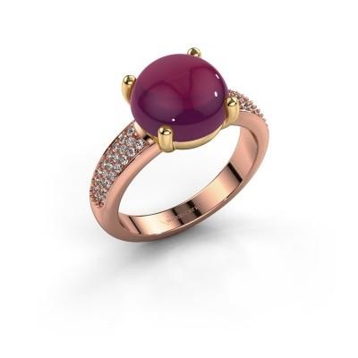 Foto van Ring Sophie 585 rosé goud rhodoliet 10 mm