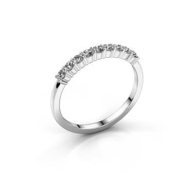 Verlovingsring Yasmin 9 585 witgoud diamant 0.495 crt