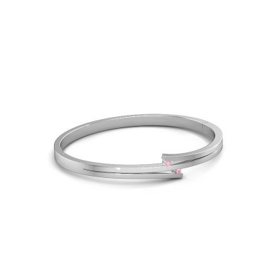Foto van Armband Roxane 585 witgoud roze saffier 2 mm