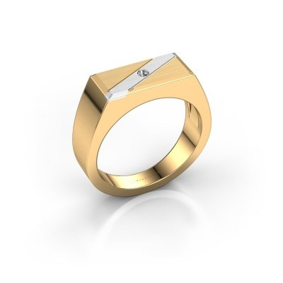 Heren ring Dree 3 585 goud diamant 0.03 crt