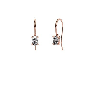 Picture of Drop earrings Cleo 375 rose gold zirconia 6x4 mm