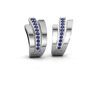 Picture of Earrings Emeline 925 silver sapphire 1.1 mm