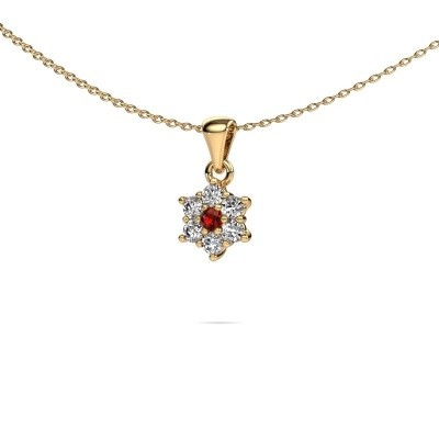 Picture of Necklace Chantal 375 gold garnet 2.4 mm
