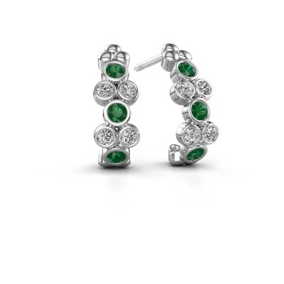 Picture of Earrings Kayleigh 925 silver emerald 2.4 mm