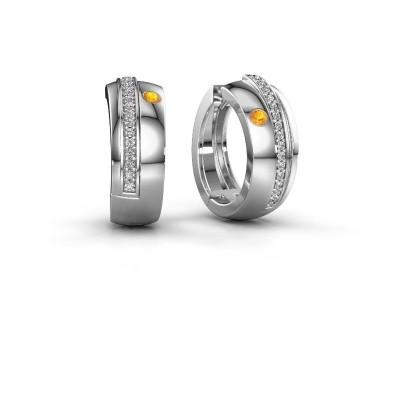 Picture of Hoop earrings Shakita 925 silver citrin 2 mm