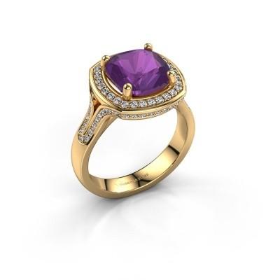 Foto van Ring Lili 375 goud amethist 9 mm
