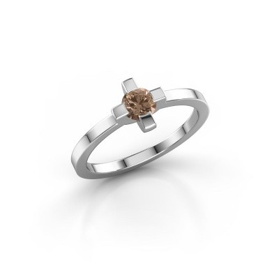 Picture of Ring Therese 585 white gold brown diamond 0.30 crt