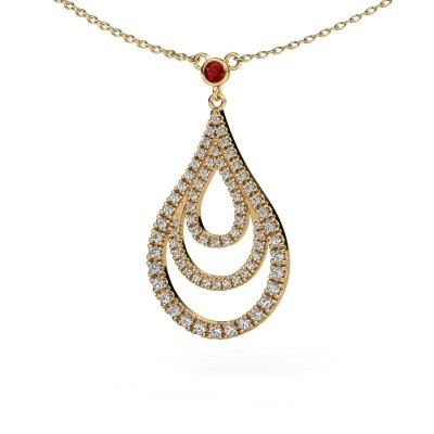 Picture of Pendant Delpha 585 gold ruby 1.4 mm