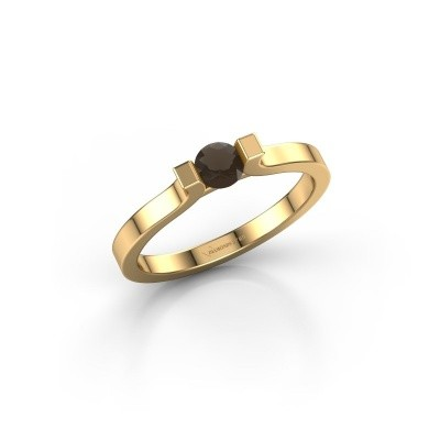 Foto van Verlovingsring Jodee 750 goud rookkwarts 4 mm