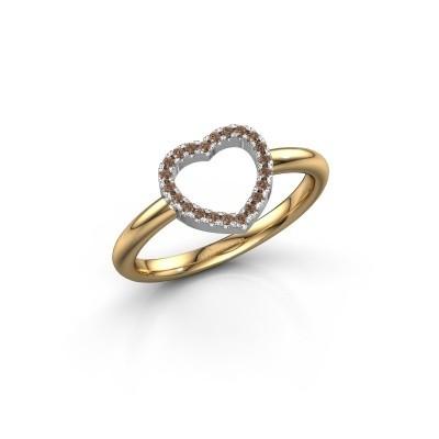 Foto van Ring Heart 7 585 goud bruine diamant 0.11 crt