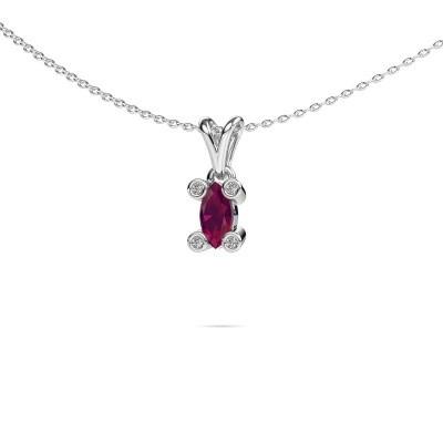 Picture of Necklace Cornelia Marquis 950 platinum rhodolite 7x3 mm