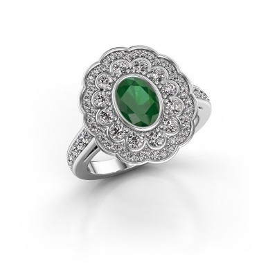 Picture of Ring Jocelyn 585 white gold emerald 7x5 mm