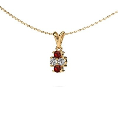 Picture of Necklace Richelle 375 gold garnet 3 mm