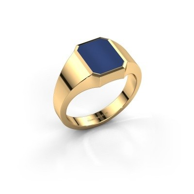 Picture of Pinky ring Lars 1 585 gold lapis 10x8 mm