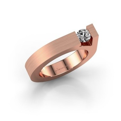 Foto van Ring Aisha 375 rosé goud zirkonia 4.2 mm