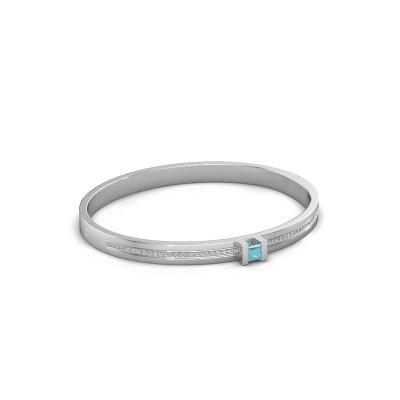 Foto van Armband Desire 585 witgoud blauw topaas 4 mm