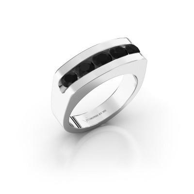 Foto van Heren ring Richard 925 zilver zwarte diamant 1.332 crt