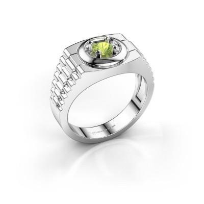 Foto van Rolex stijl ring Edward 950 platina peridoot 4.7 mm