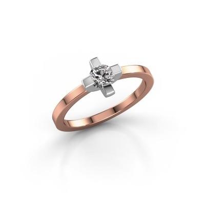 Foto van Ring Therese 585 rosé goud diamant 0.30 crt