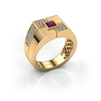 Foto van Heren ring Rogier 585 goud rhodoliet 4 mm