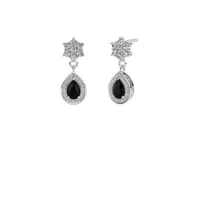 Picture of Drop earrings Era 950 platinum black diamond 1.61 crt