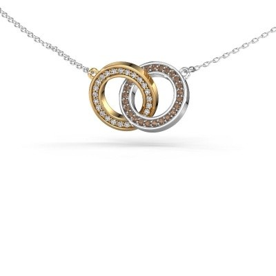 Bild von Halskette Circles 2 585 Gold Braun Diamant 0.25 crt