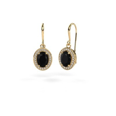 Picture of Drop earrings Latesha 585 gold black diamond 3.000 crt