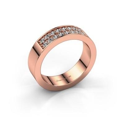 Foto van Aanschuifring Catharina 5 750 rosé goud diamant 0.32 crt
