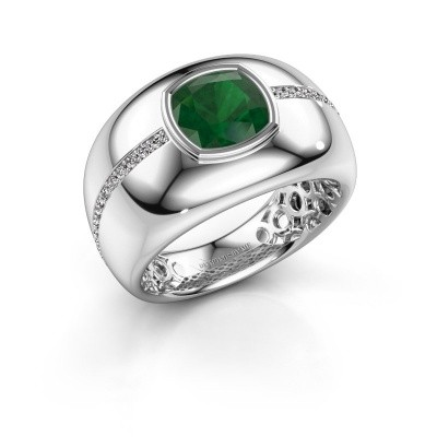 Picture of Ring Sydney 585 white gold emerald 7.5 mm